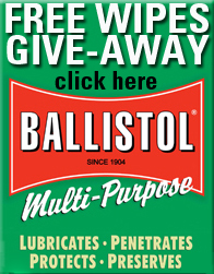 Free Ballistol Wipes Give Away
